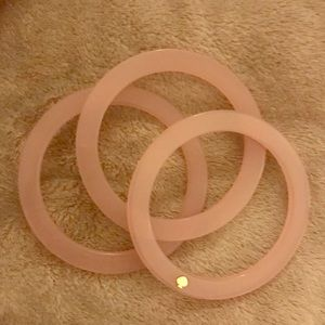 Three Pink Bangles Kate Spade